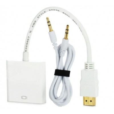 HDMI MALE TO VGA FEMALE WITH SOUND ADAPTER