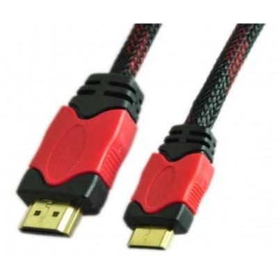 HDMI MALE TO HDMI MALE MINI CABLE  NYLON MESH